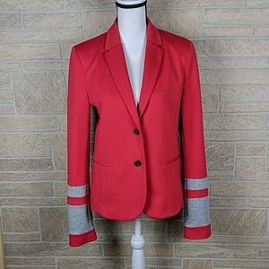 The Academy Blazer Gap Red Gray Varsity NWOT